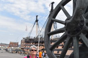 HMS Victory in Portsmouth Dockyard.