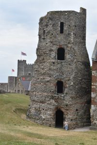 The Roman Lighthouse at Dover Castle, dating back to the first century AD. Originally, it was twice as tall as it is now, but the fact that it is still standing at all is astounding.