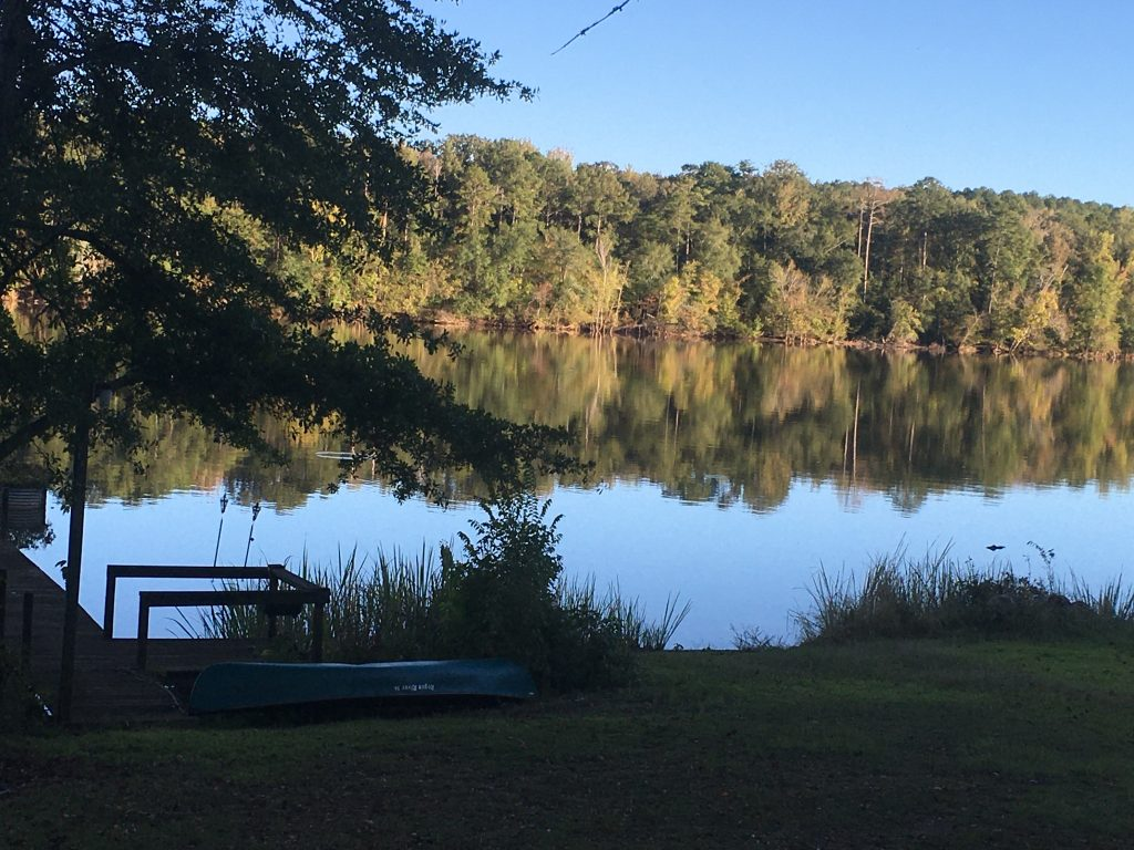 The Catawba River (our lake) which runs into Lake Wateree