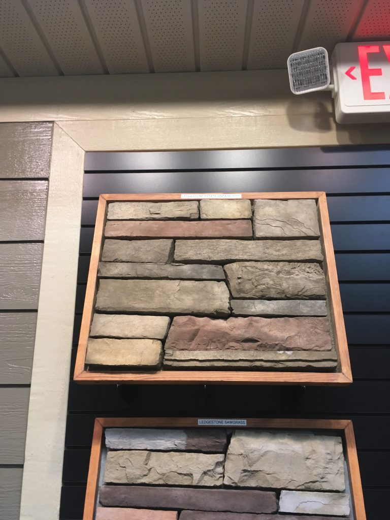 Selected stone for the fireplace