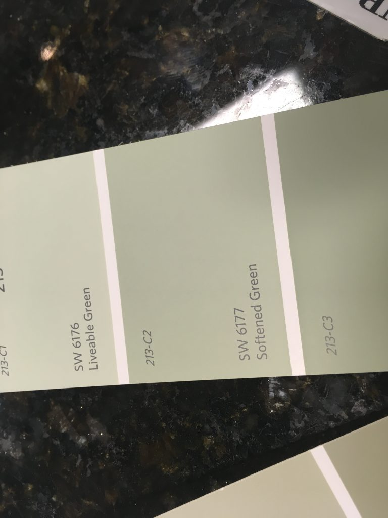 Accent color Softened Green for a few walls.
