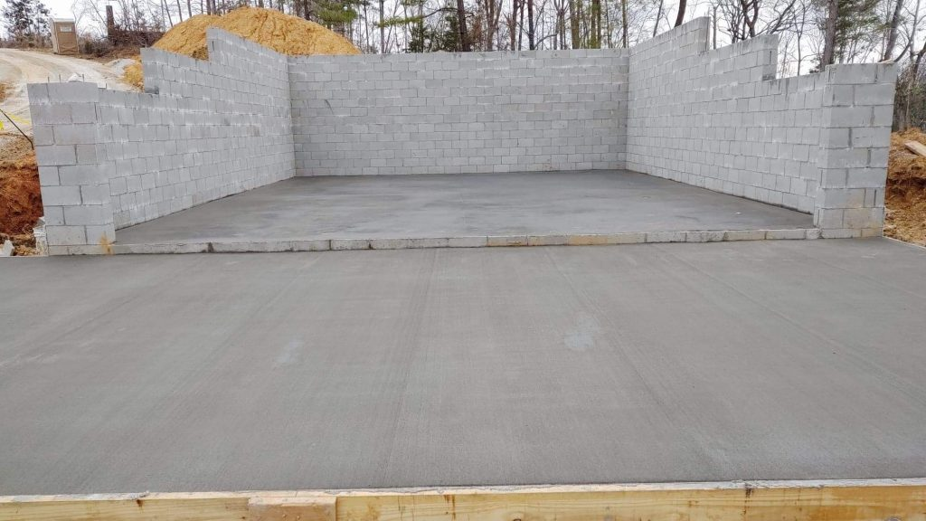 Basement concrete is done!