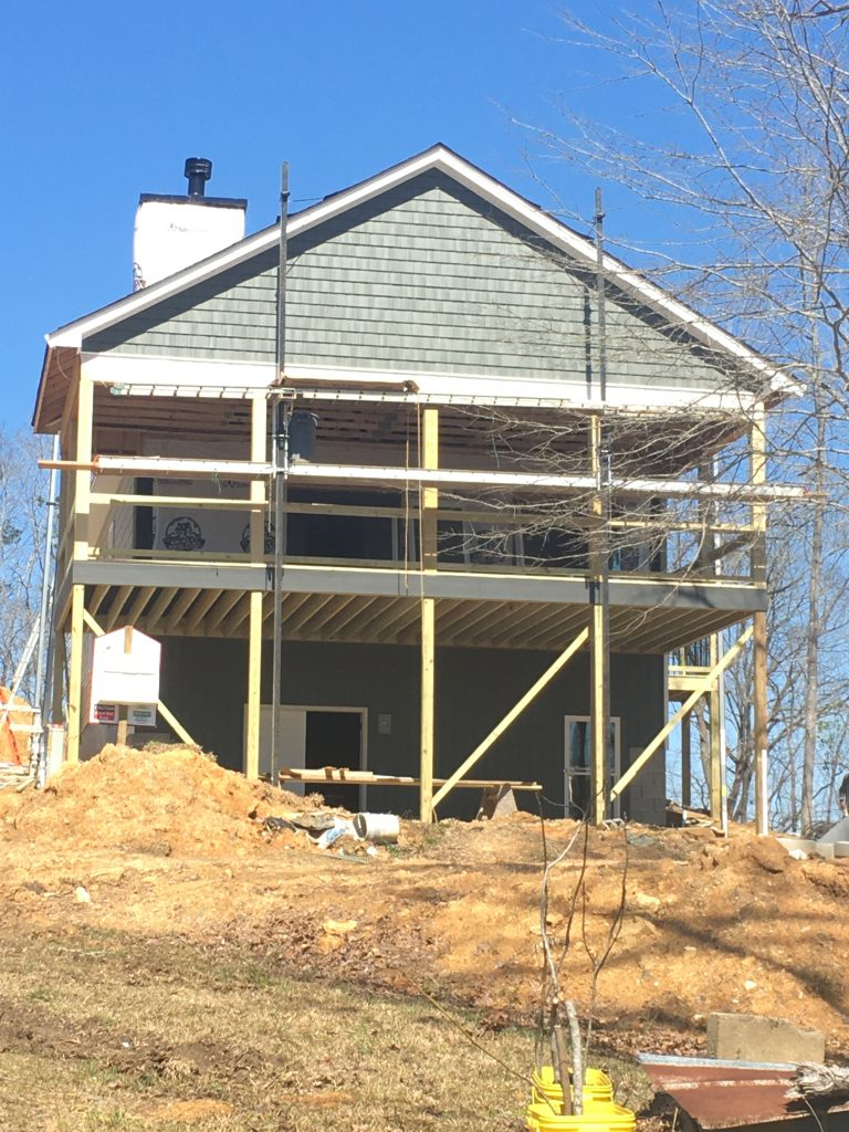 Deck and the start of siding